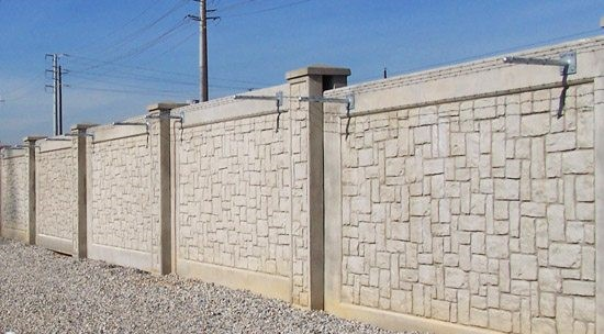 concrete security wall design and installation