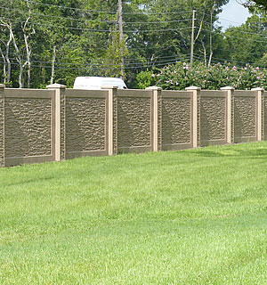 residential concrete fence wall systems
