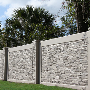 residential stone sound barrier fencing