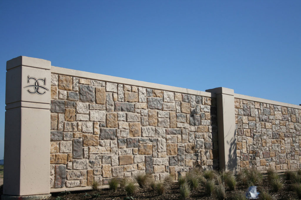 ashlar textured stone wall panels