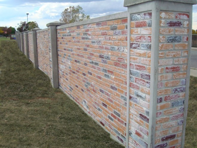 Good With AFTECu0027s Full Textured Brick Wall Panels, Design Can Be Enhanced With A  Soldier Course On The Panel Section, And Full Standard Staggered Brick On  The ...