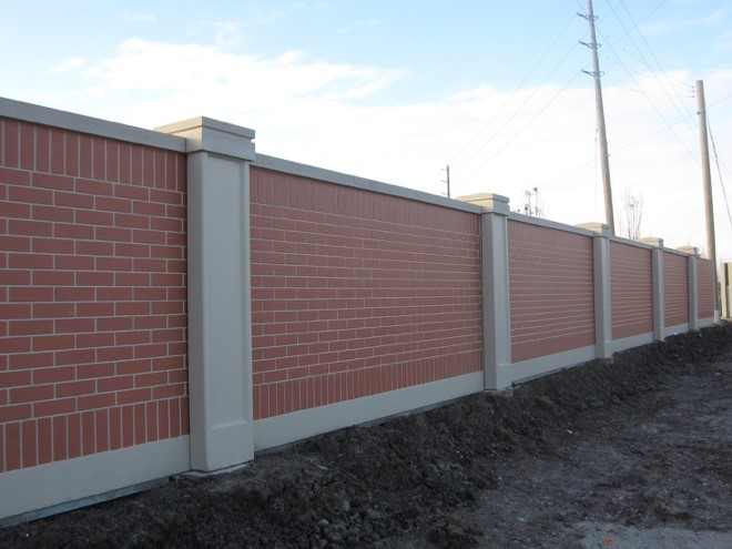 Wall Fence Designs Precast brick fence walls aftec aftec has a variety of brick fence designs from used or weathered brick to new brick with sharper defined edges workwithnaturefo