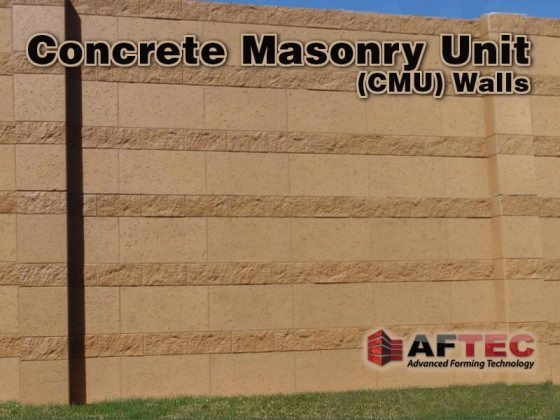A concrete masonry unit is a piece of concrete, like a cinder block which was one of the more popular ways to build a wall.