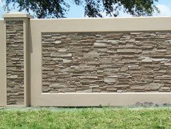 Decorative precast Walls - AFTEC Precast Stacked Stone Residential Wall